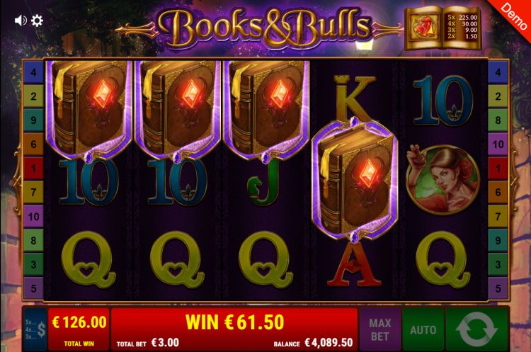 books-and-bulls-gamomat slot bonus