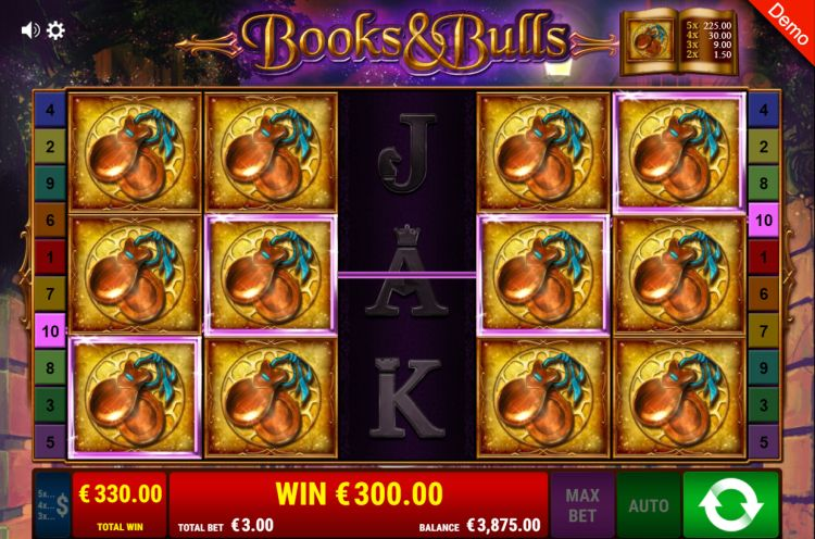 books-and-bulls-gamomat slot review win