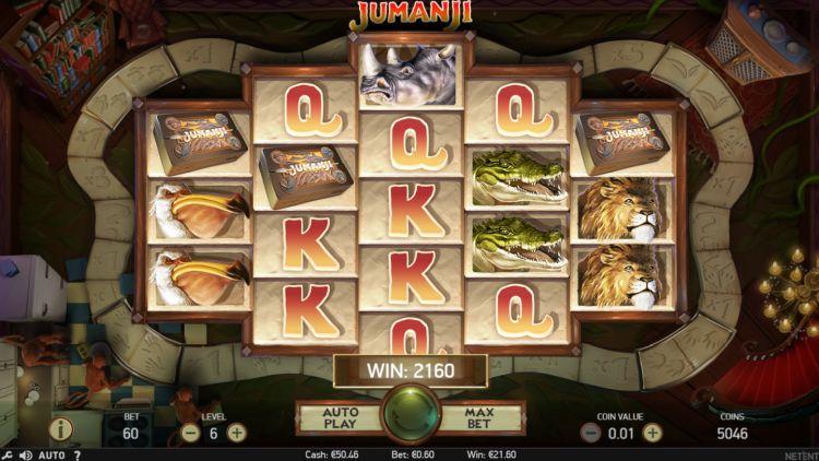 jumanji netent slot review bonus win