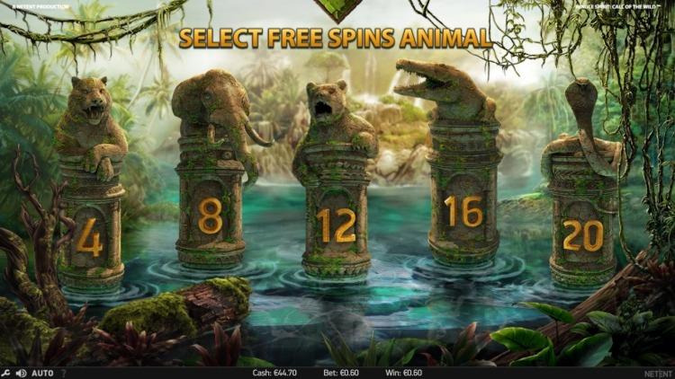 jungle-spirit-slot netent bonus choice