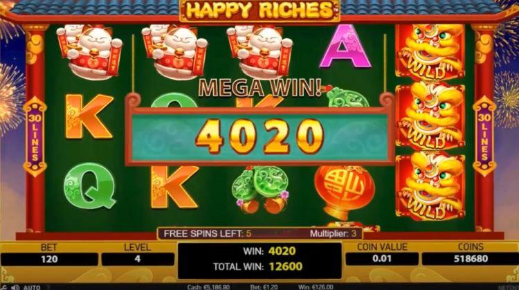 netent_happy-riches-slot review mega win