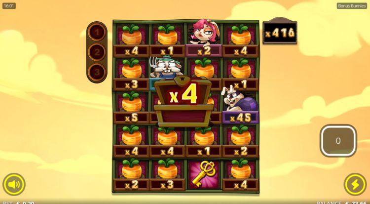 Bonus Bunnies slot nolimit city free spins super big win