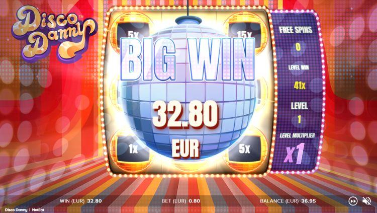 Disco Danny slot review netent big win