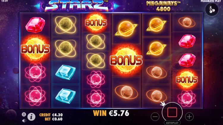 Starz Megaways slot pragmatic play bonus trigger
