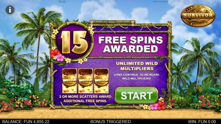 Survivor Megaways slot big time gaming bonus