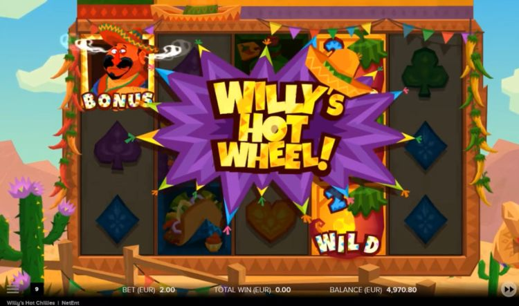 Willy's Hot Chillies slot netent feature
