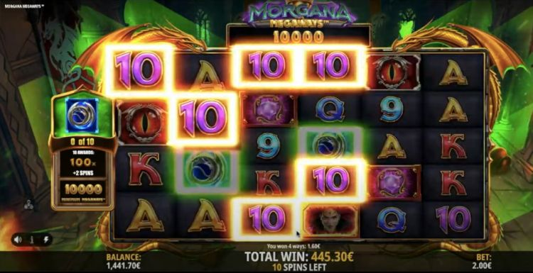 morgana megaways slot big win