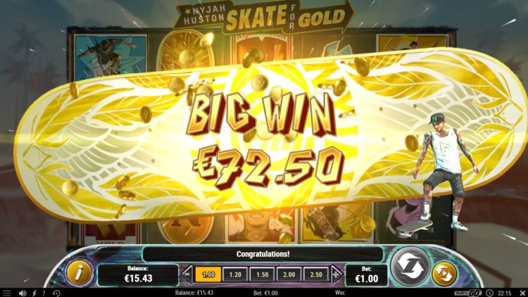 nyjah Huston skate-for-gold slot super big win
