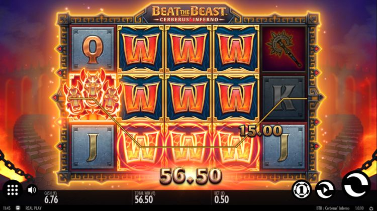 slot thunderkick Cerberus Inferno big win