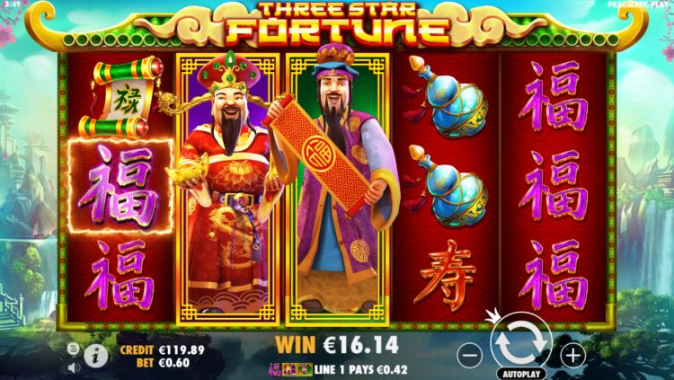 three star fortune slot pragmatic play win