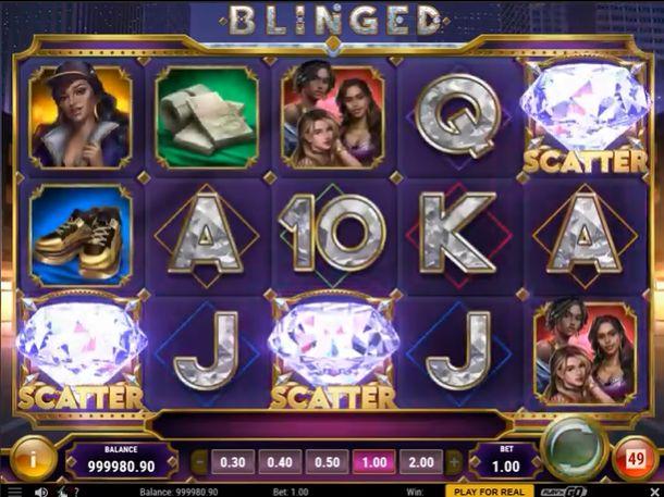 Blinged slot review play n go bonus trigger