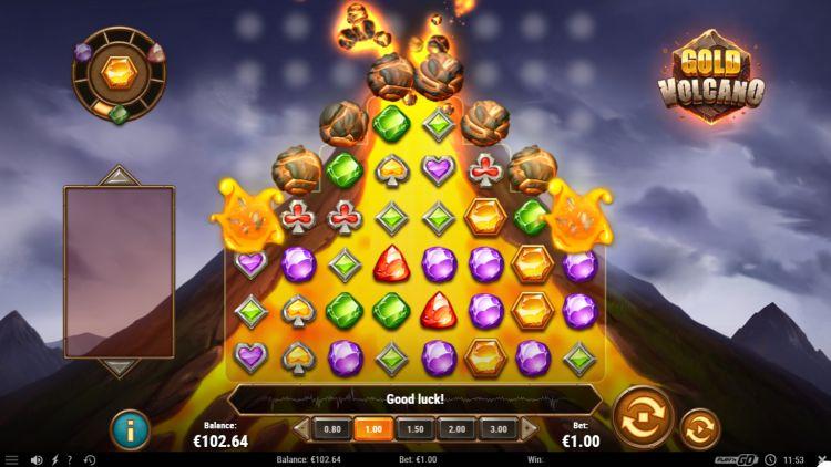 Gold Vulcano slot play n go feature win