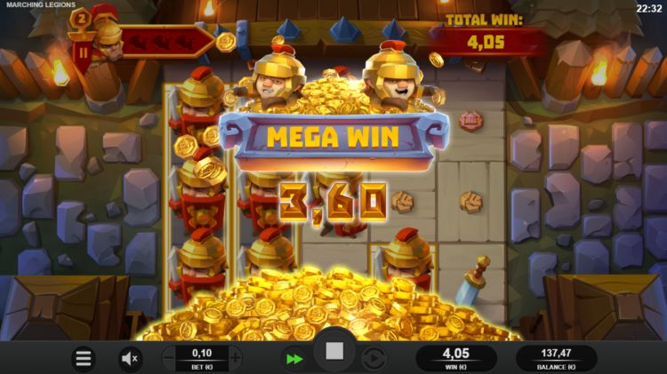 Marching-Legions-slot review bonus big win