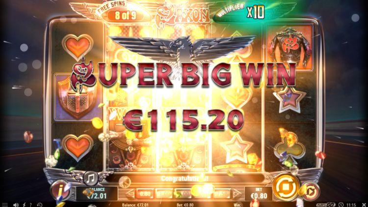 Saxon slot review bonus super big win