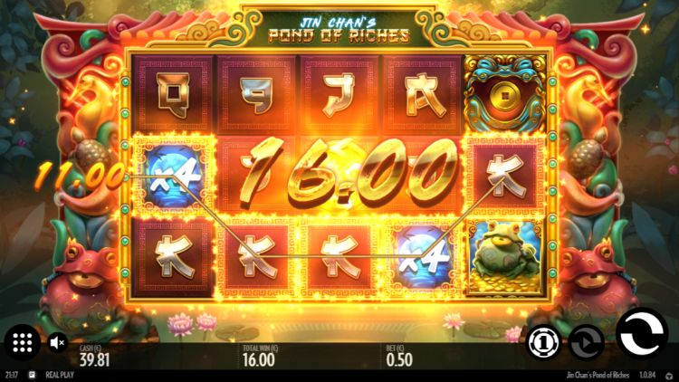 Jin Chans Pond of Riches slot review big win