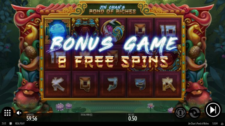 Jin Chans Pond of Riches slot review bonus trigger