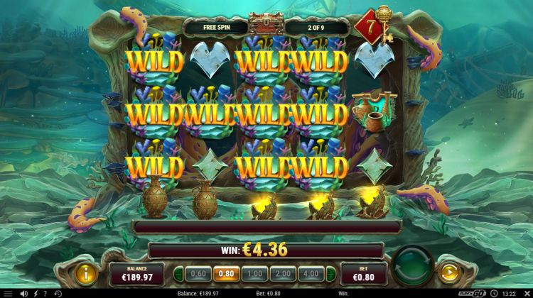 Octopus treasure slot review play'n go feature win