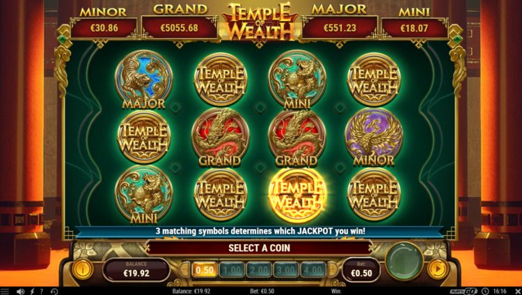Temple of wealth slot play n go jackpot win