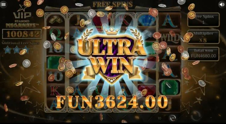 VIP branded megaways slot ultra win