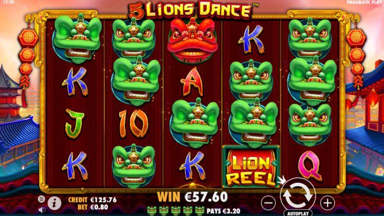 5 lions dance slot review pragmatic play mega win