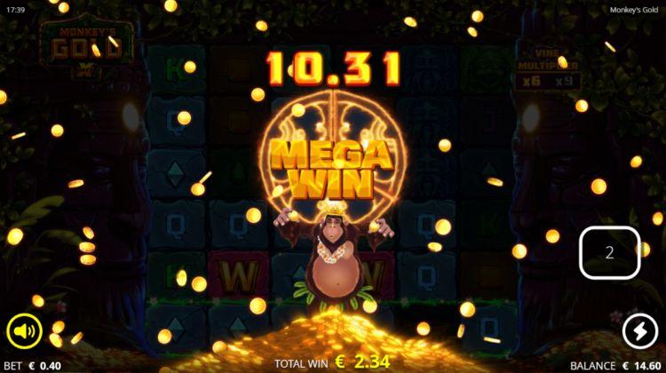 Monkeys Gold slot nolimit city mega win