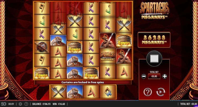 Spartacus-Megaways-Slot free spins trigger