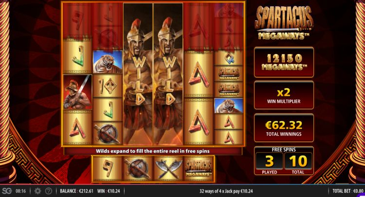 Spartacus-Megaways-Slot free spins win