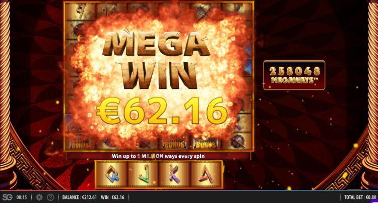 Spartacus-Megaways-Slot mega win
