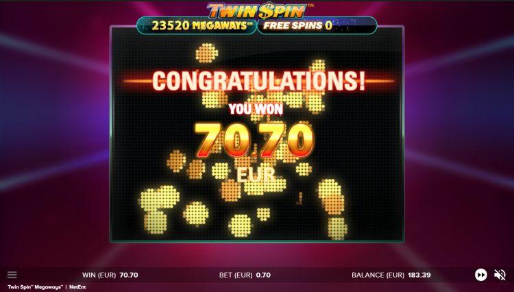 Twin Spin Megaways slot review big win bonus