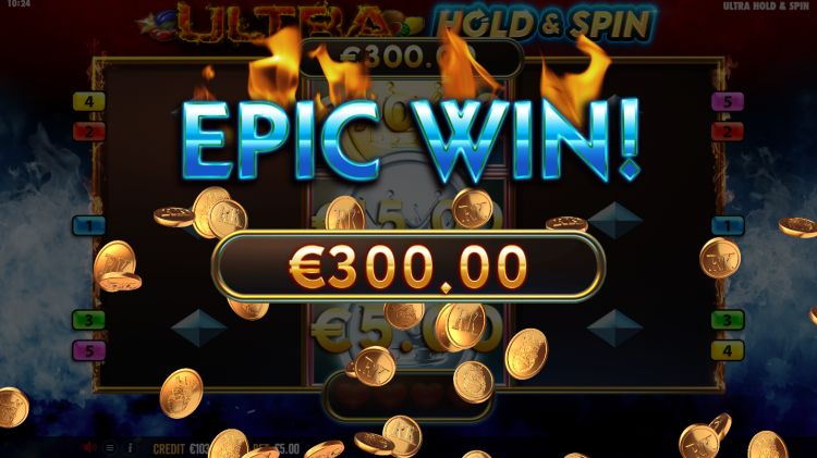 Ultra Hold and Spin slot epic win