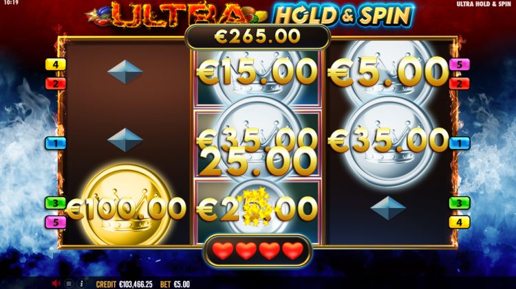 Ultra Hold and Spin slot review bonus