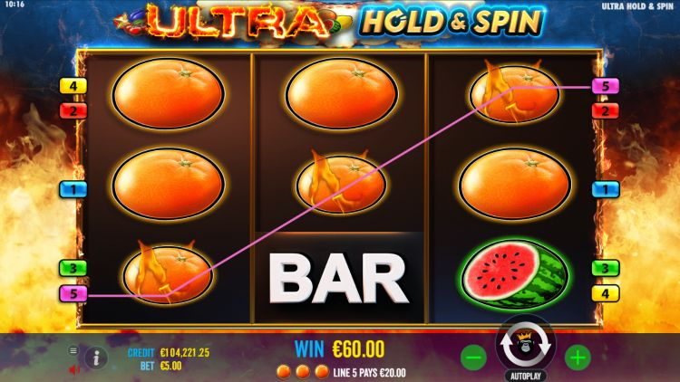 Ultra Hold and Spin slot review pragmatic play