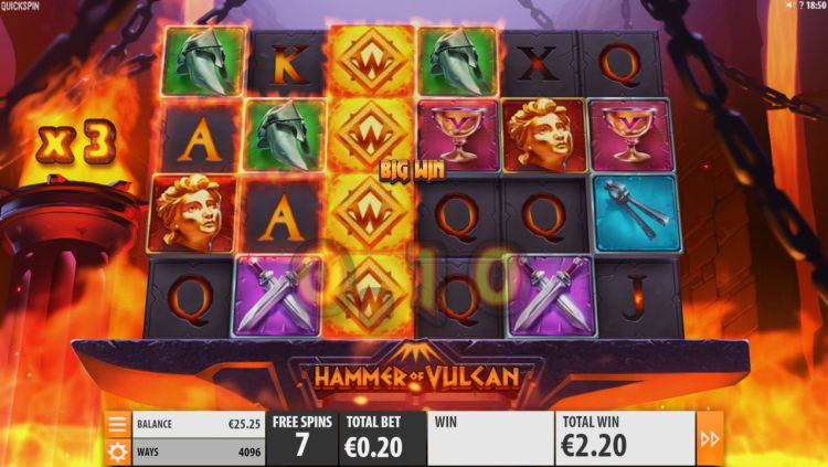 hammer-of-vulcan-slot Quickspin free spins big win