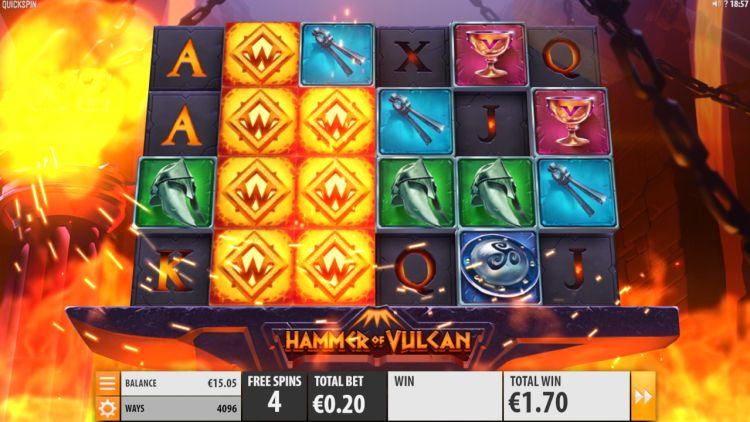 hammer-of-vulcan-slot review Quickspin free spins
