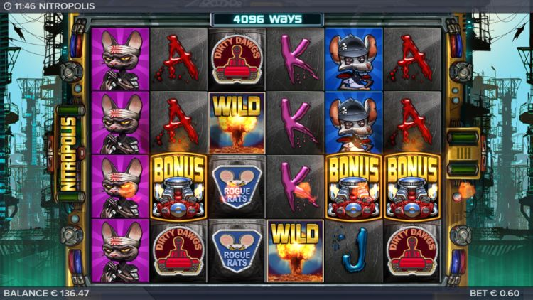 Nitropolis slot free spins trigger