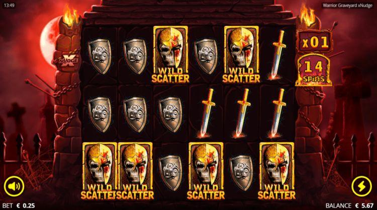 warrior graveyard xnudge slot death spins trigger