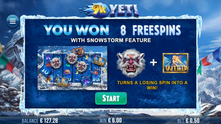 9k yeti slot review free spins bonus