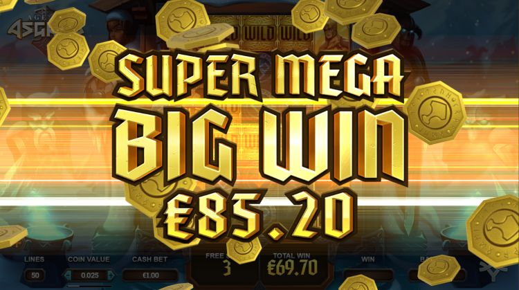 Age of Asgard free spins bonus super big win