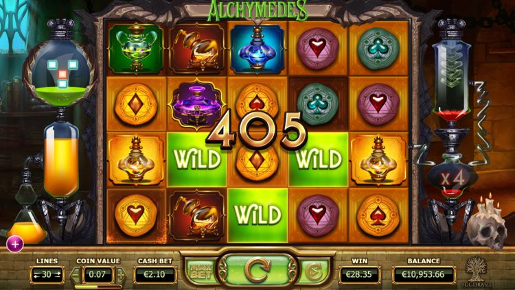 Alchymedes slot review big win