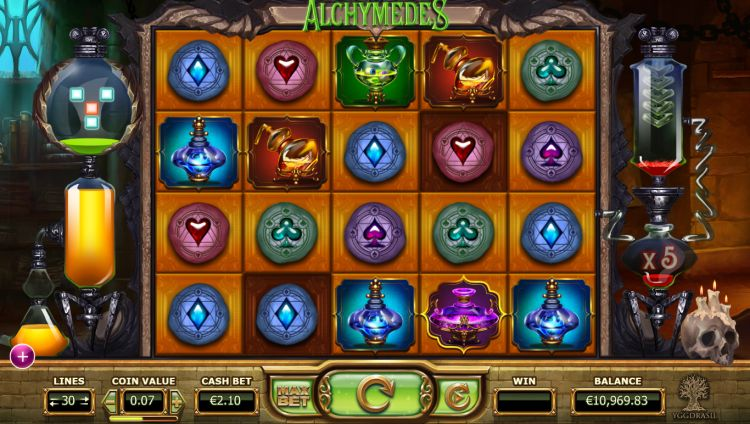 Alchymedes slot review yggdrasil