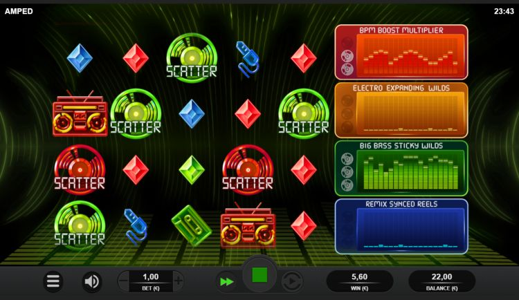 Amped slot review Relax Gaming bonus trigger