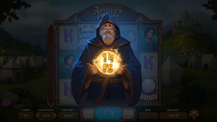 Arthur's fortune slot yggdrasil bonus trigger