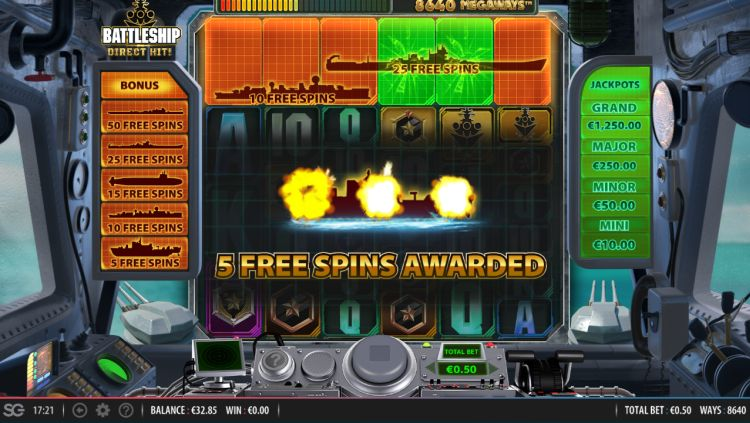 Battleship direct hit megaways review free spins