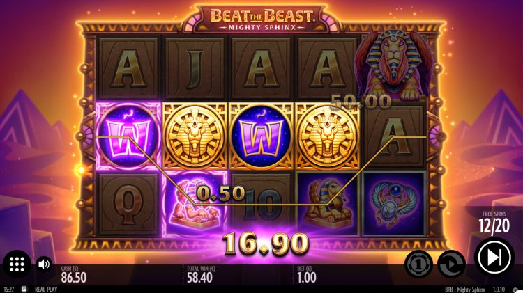 Beat the beast mighty sphinx slot review bonus win