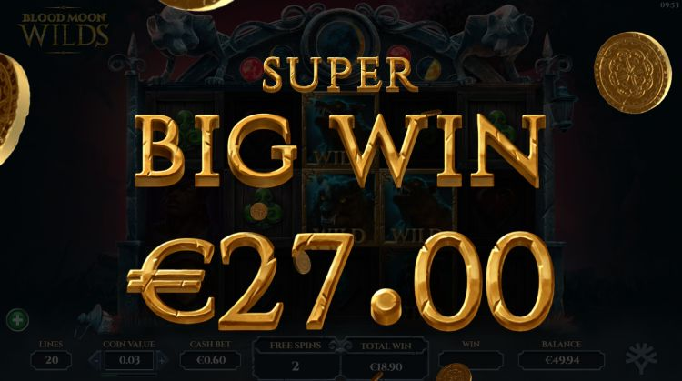 Blood Moon Wilds slot bonus super big win