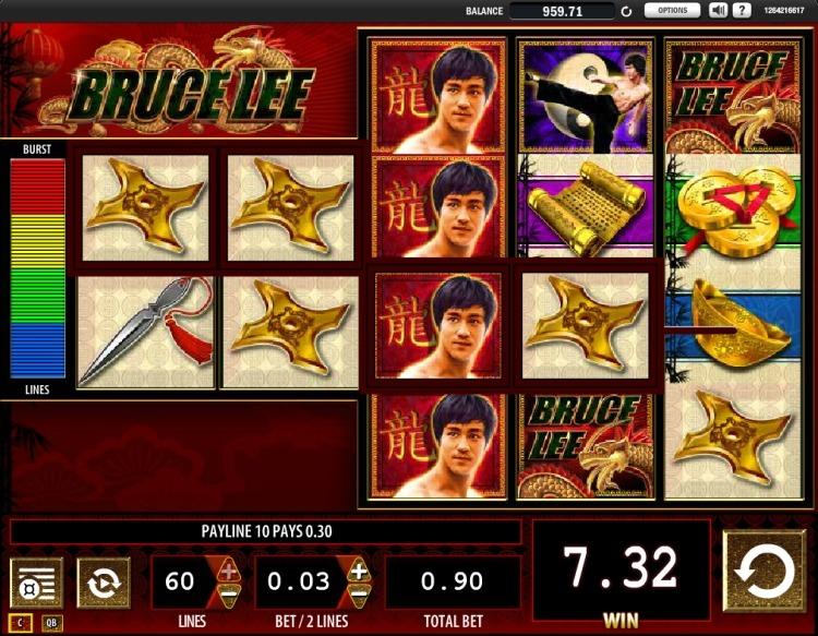 Bruce Lee slot WMS win