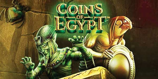 Coins of Egypt Netent slot logo