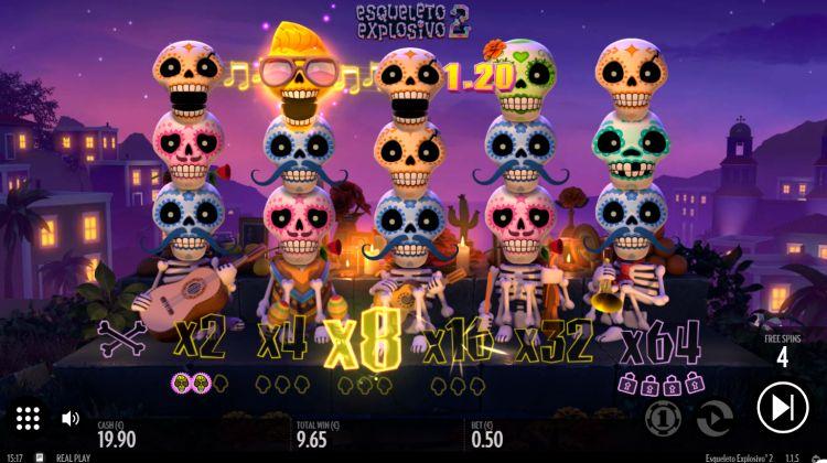 Esqueleto Explosivo 2 thunderkick bonus win