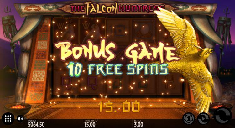 Falcon Huntress Thunderkick free spins trigger