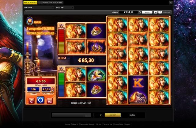 Fire Queen WMS slot screenshot 2
